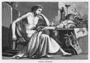 Aristotle Greek Philosopher as a Young Man Reading at His Desk by C. Laplante