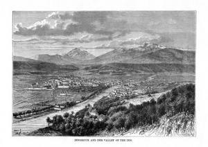 Innsbruck and the Valley of the River Inn, Austria, 1879 by C Laplante
