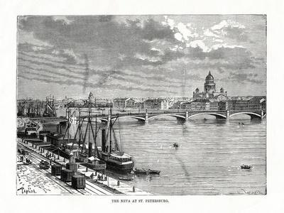 The River Neva, St Petersburg, 1879