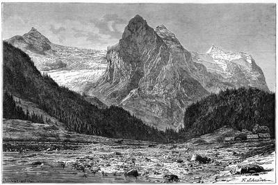 The Wellhorn and the Rosenlaui Glacier, Switzerland, 19th Century