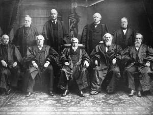 Portrait of the 1888 Supreme Court by C.M. Bell