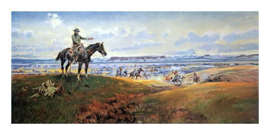 C.M. Russell and His Friends-Charles Marion Russell-Art Print