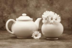 Teapot and Daisies II by C. McNemar