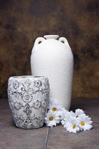Vases with Daisies I by C^ McNemar