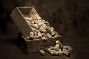 Wine Corks Still Life I by C. McNemar