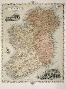 Map of Ireland, Published c.1850 by C^ Montague
