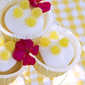 Lemon Muffins with Jelly Fruits and Blossoms by C. Nidhoff-Lang