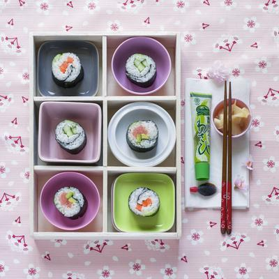 Sushi Box on Wood
