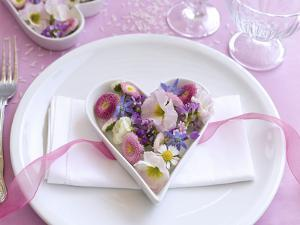 Table Decorations, Wedding, Heart, Blossoms by C. Nidhoff-Lang