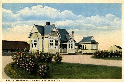 C&O Passenger Station, Old Point Comfort, Virginia, 1915--Giclee Print