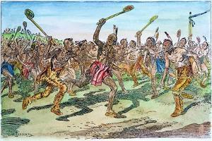 Iroquois: Lacrosse by C.W. Jefferys