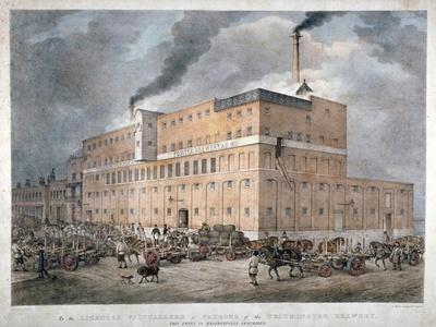 Westminster Ale and Porter Brewery on Horseferry Road, London, C1840