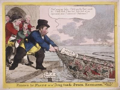Fishing for Flats or a Drag from the Stock Exchange, 1806