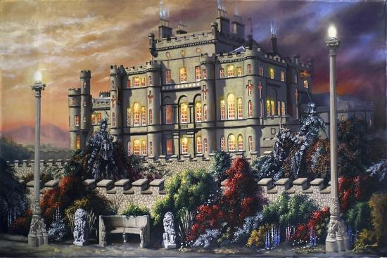 C41 Castle, Two Knights-D. Rusty Rust-Giclee Print