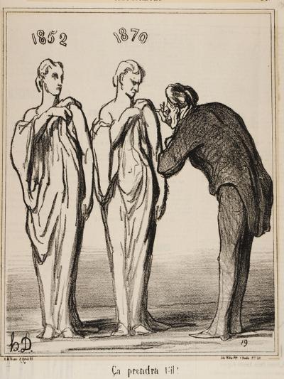 Ça Prendra T'-Il!, 1870-Honore Daumier-Giclee Print