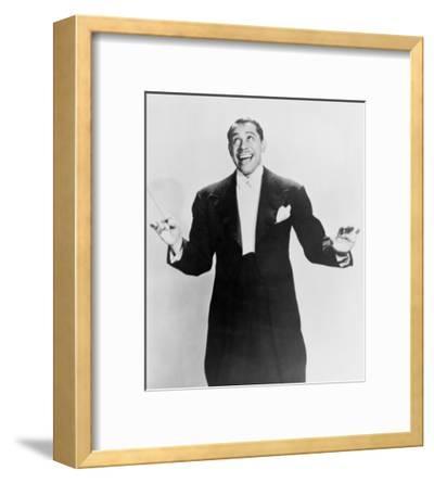 Cab Calloway, Flamboyant African America Bandleader Holding Conductor's Baton. 1951