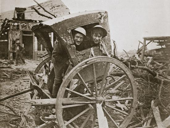 'Cab, sir!' Found in a captured village', France, World War I, 1916-Unknown-Photographic Print