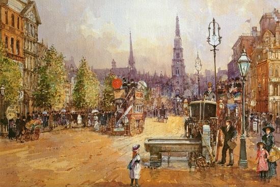 Cab Stand in the Strand-John White-Giclee Print
