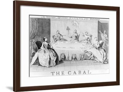 Cabal: the Picturesque Appearance of a Very, Very Grave Statesman, Circa 1745--Framed Giclee Print