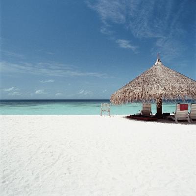 Cabana at the Beach--Photographic Print