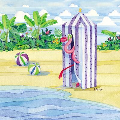 Cabana Flamingo-Paul Brent-Art Print