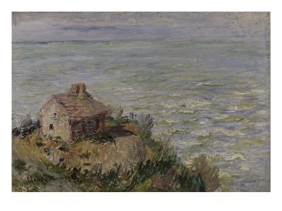 Cabane des douaniers, effet d'après-midi-Claude Monet-Giclee Print