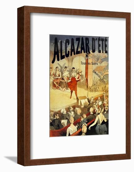 Cabaret Alcazar D Ete Au Champs Elysees--Framed Art Print