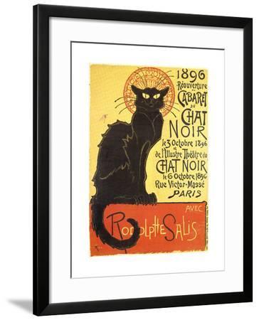 Cabaret Du Chat Noir-Black Cat Cabaret-Th?ophile Alexandre Steinlen-Framed Art Print