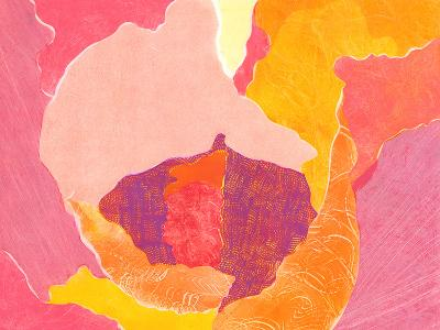 Cabbage Rose VI-Carolyn Roth-Art Print