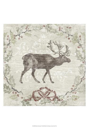 Cabin Christmas V-June Erica Vess-Art Print