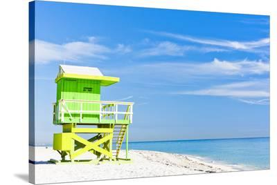 Cabin Miami Beach Florida--Stretched Canvas Print