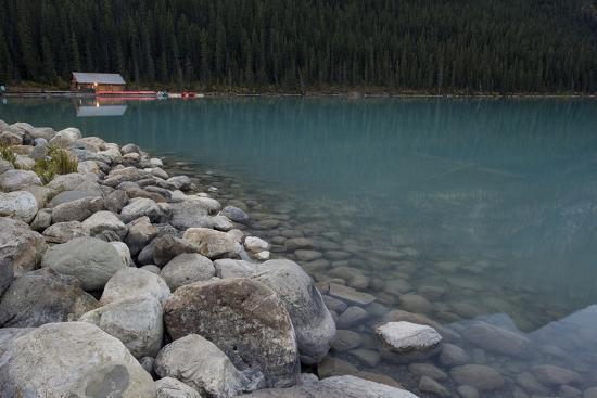 Cabin On Lake Louise-Lindsay Daniels-Photographic Print