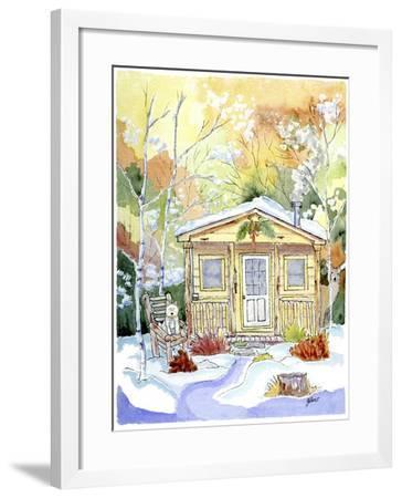 Cabin Snow-Jennifer Zsolt-Framed Giclee Print
