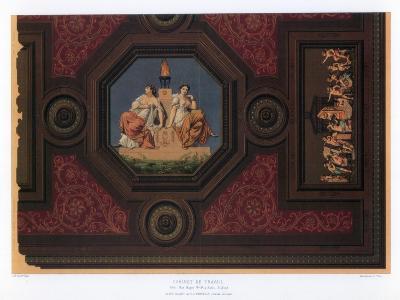 Cabinet De Travail, Paris, 19th Century-F Durin-Giclee Print