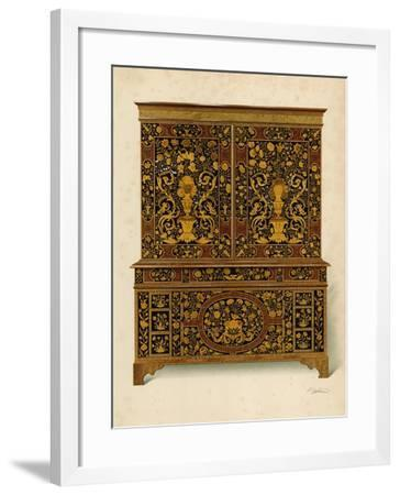 Cabinet Press Inlaid with Marqueterie, Property of the Marquess of Exeter-Shirley Charles Llewellyn Slocombe-Framed Giclee Print