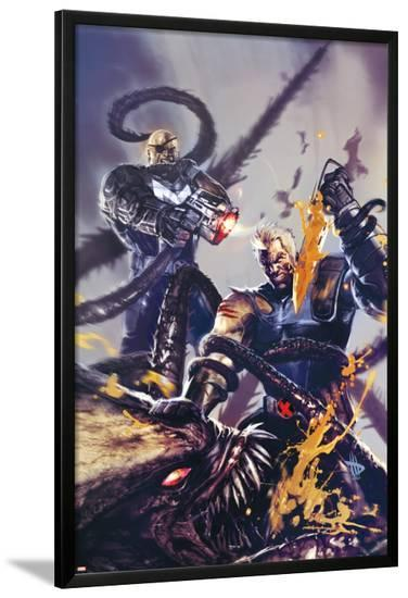 Cable #19 Cover Featuring Cable, Bishop-Dave Wilkins-Lamina Framed Poster