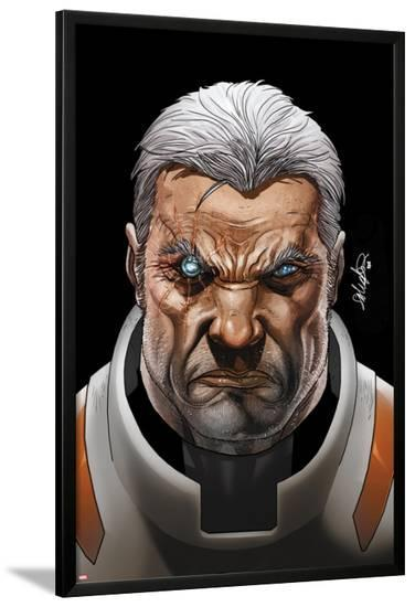 Cable and X-Force #16 Cover: Cable-Salvador Larroca-Lamina Framed Poster
