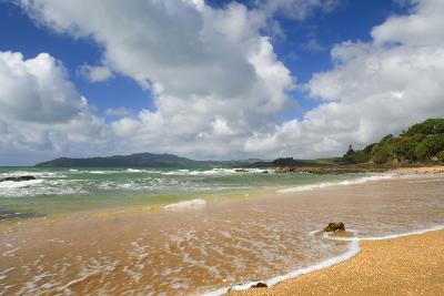 Cable Bay Waves Rolling in on the Golden Beach--Photographic Print