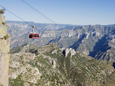 Cable Car at Barranca Del Cobre (Copper Canyon), Chihuahua State, Mexico, North America-Christian Kober-Photographic Print