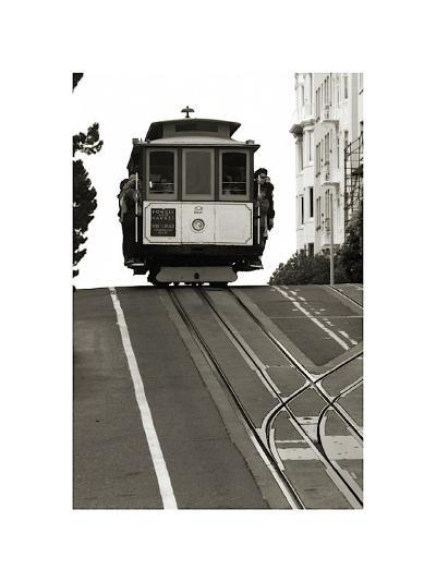 Cable Car Breaking the Crest-Christian Peacock-Giclee Print