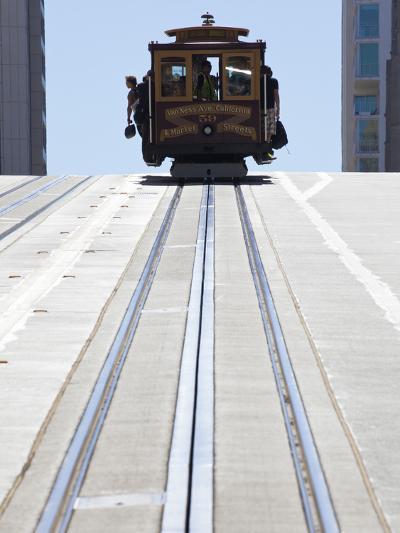Cable Car Crossing California Street in San Francisco, California, USA-Gavin Hellier-Photographic Print
