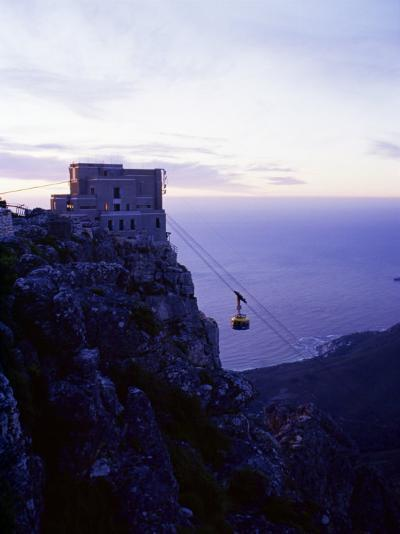 Cable Car Going up Table Mountain, Cape Town, South Africa, Africa-Yadid Levy-Photographic Print