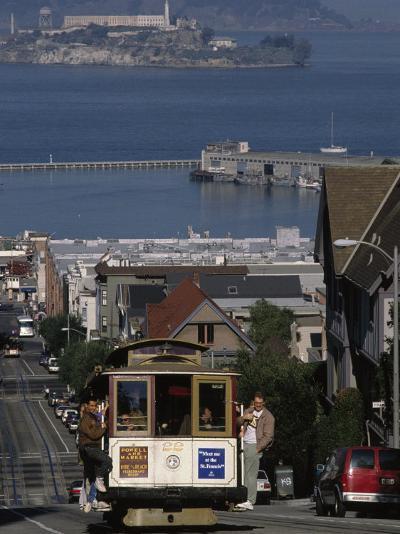 Cable CAr, Hyde Street, San Francisco, CA-Martin Fox-Photographic Print