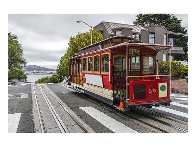 Cable Car in San Francisco--Art Print