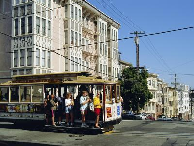 Cable Car on Nob Hill, San Francisco, California, USA-Fraser Hall-Photographic Print