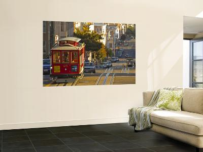 Cable Car on Powell Street in San Francisco, California, USA-Chuck Haney-Wall Mural