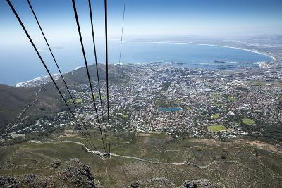 Cable Car, Table Mountain National Park, Cape Town, South Africa-Paul Souders-Photographic Print