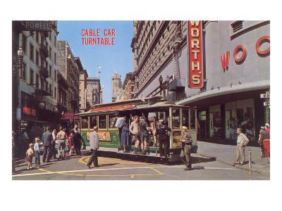 Cable Car Turn-Table, San Francisco, California--Art Print