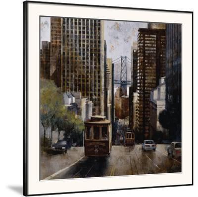 Cable Cars in San Francisco-Marti Bofarull-Framed Art Print