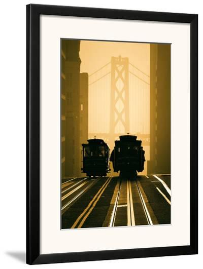 Cable Cars, San Francisco-Mitchell Funk-Framed Art Print